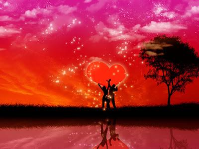Dois pequenoos amantes retirantes no coração do mundo